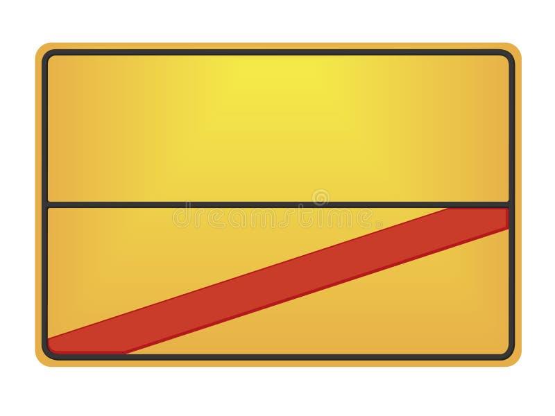 Download German road sign stock illustration. Image of information - 32052713