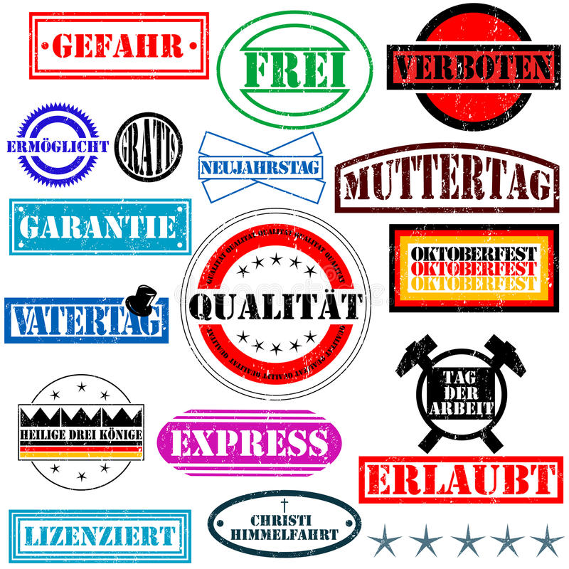 German rubber stamps