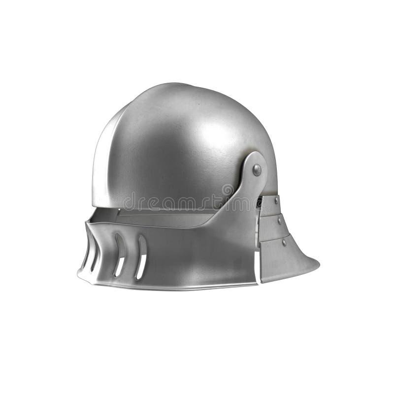 German Sallet Medievaval Helmet  3D Illustration, Isolated