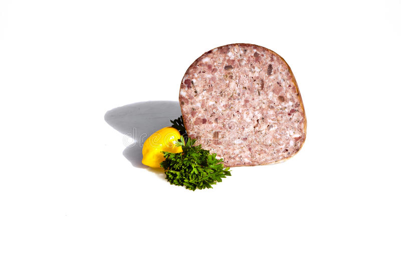 German Sausage Handmade By The Butcher Stock Images