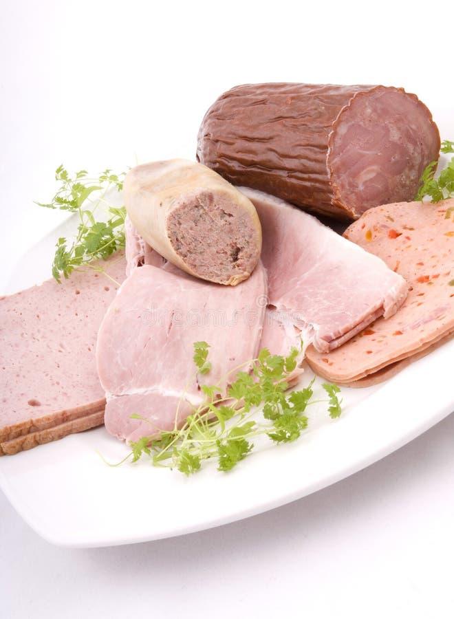 Download German Sausage Plate Vertical Stock Image - Image: 4402575