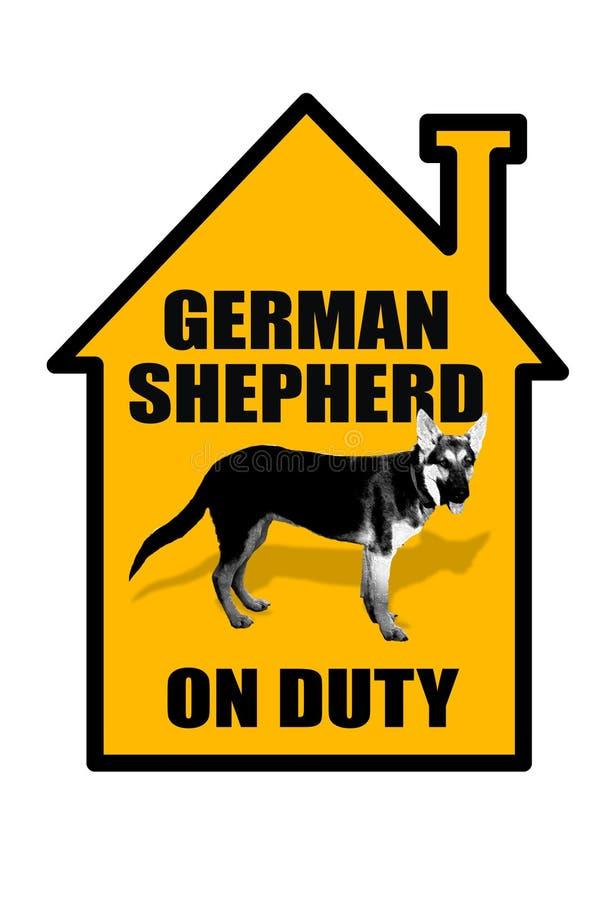 Download German Shepard Sign. stock image. Image of friendly, dangerous - 31300029