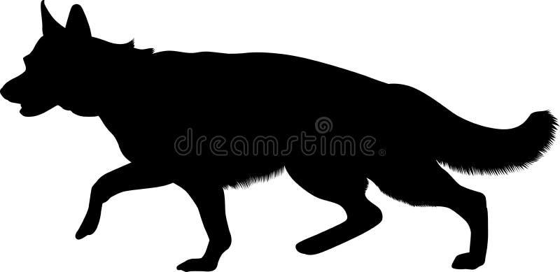 German Shepherd vector illustration