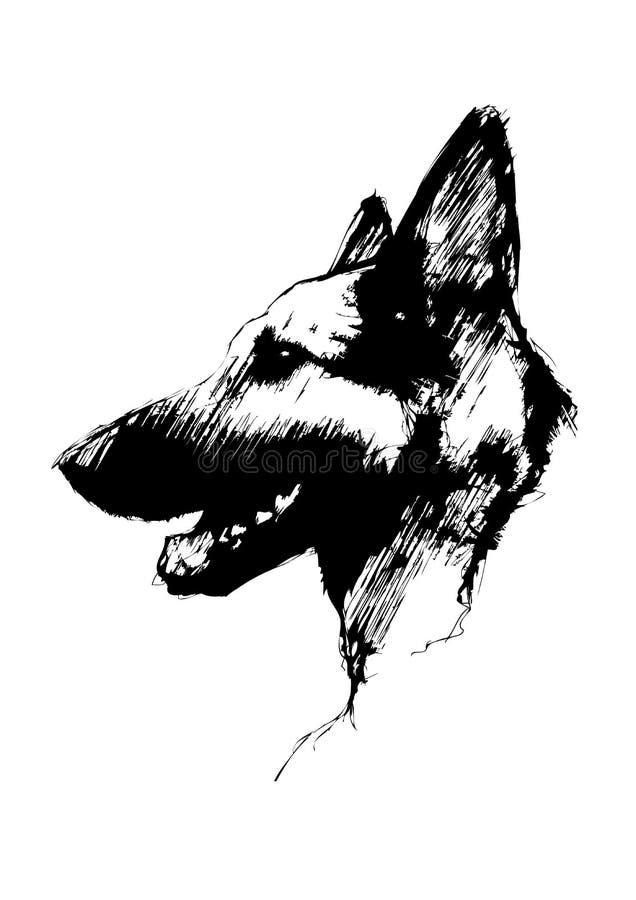 Download German shepherd dog stock vector. Image of pedigree, animal - 15304609