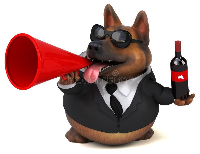 German shepherd dog - 3D Illustration vector illustration
