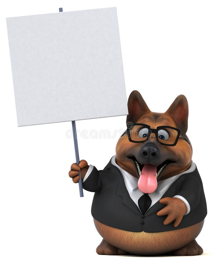 German shepherd dog - 3D Illustration royalty free illustration