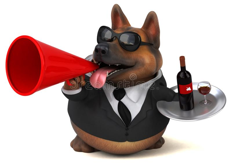 German shepherd dog - 3D Illustration stock illustration