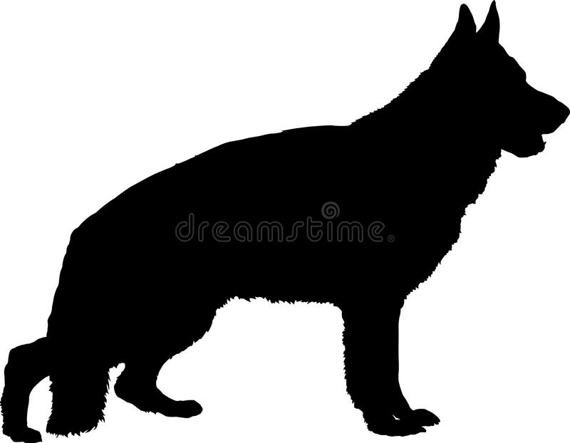German Shepherd Silhouette vector illustration