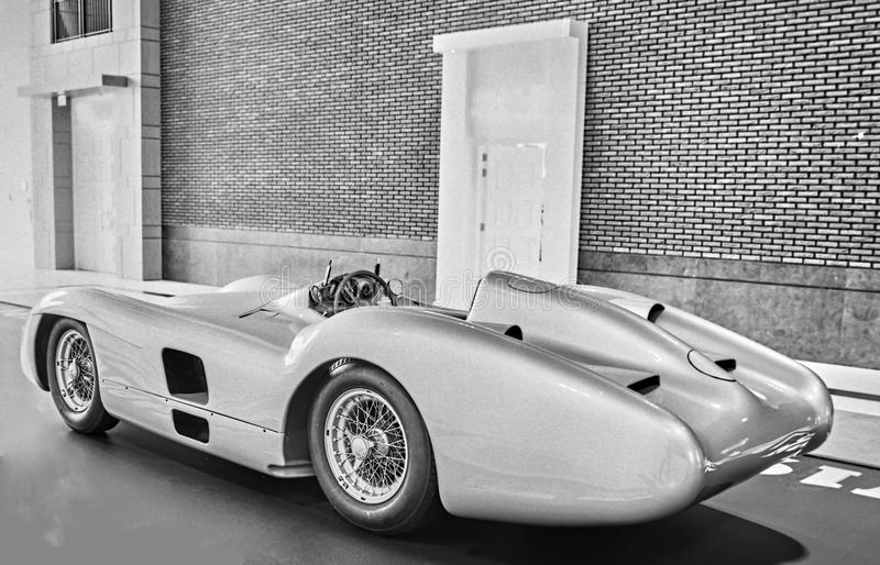 German silver arrow sports car stock photography