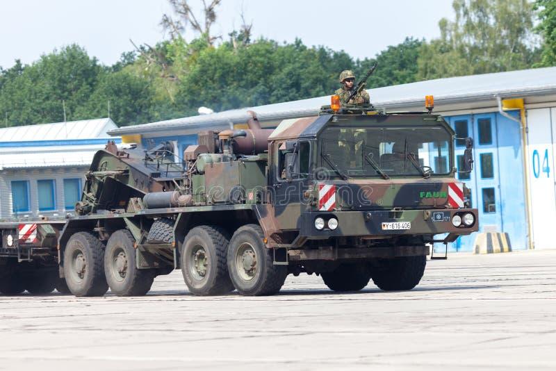 German SLT 50 Elefant heavy duty tractor unit and tank transporter royalty free stock image
