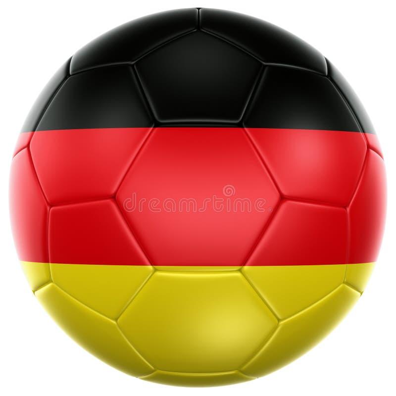 German soccer ball stock illustration