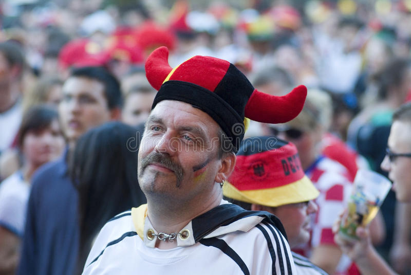 German Soccer Fan royalty free stock images