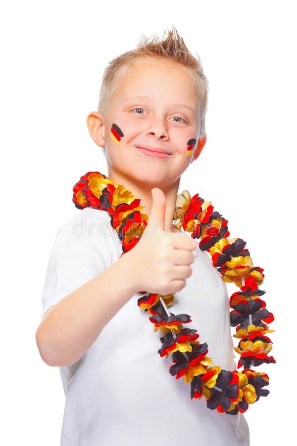 Download German Soccer Fan With Thumbs Up Stock Image - Image of healthy, europe: 24699863