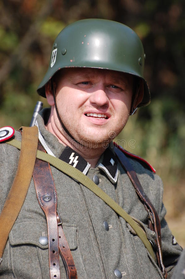 Portrait Of A German Soldier Date Created Stock Photos