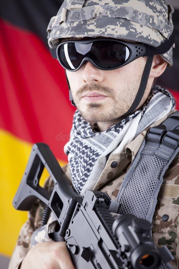 German soldier stock image