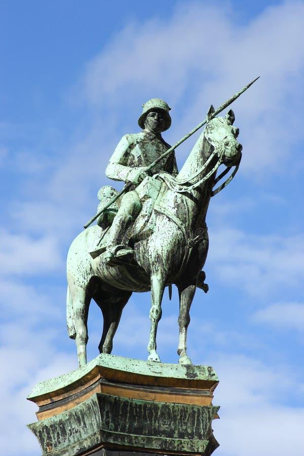 Download German soldier memorial stock image. Image of cavalryman - 20125967