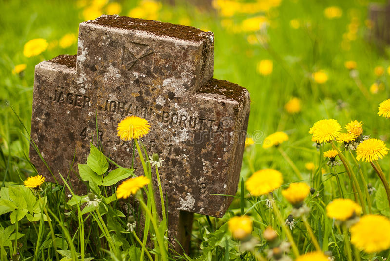German soldiers cemetery. In Latvia stock photos