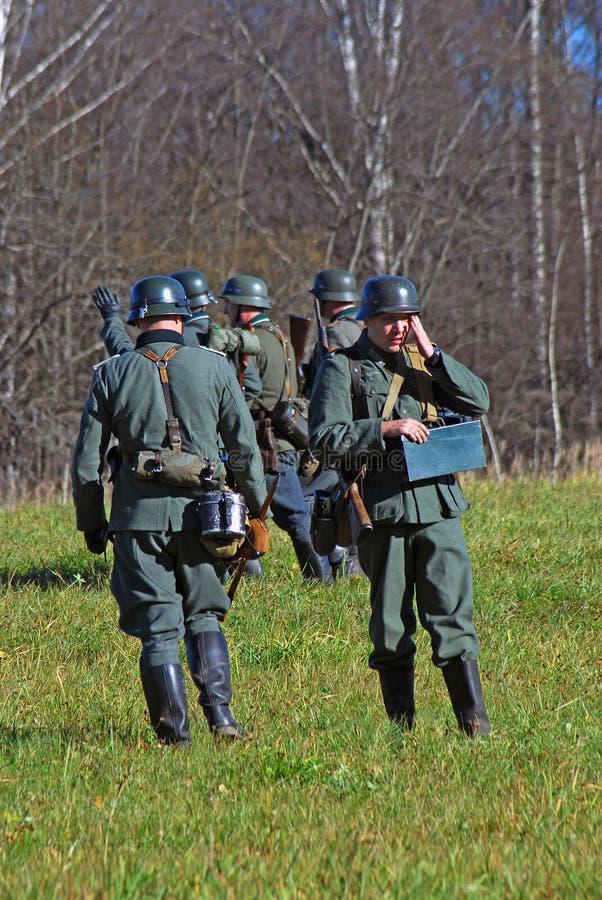 German Soldiers-reenactors Editorial Image