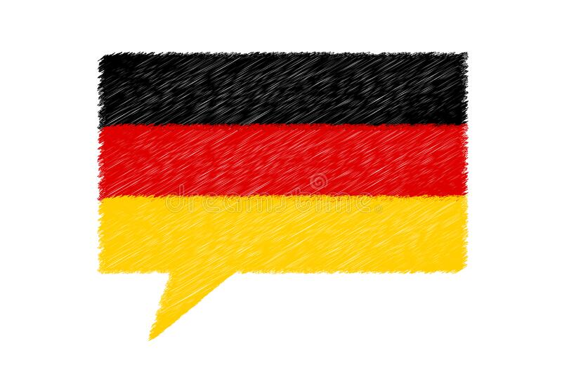 German Speech Bubble - Vector Scribble Illustration - Isolated On White Background royalty free stock photos