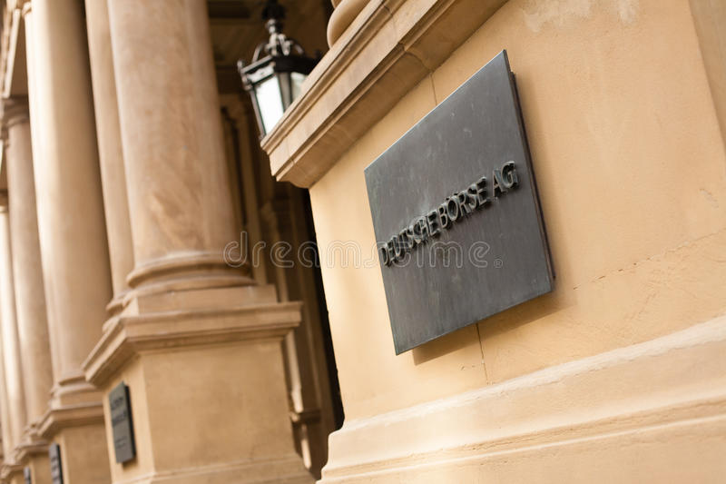 German stock exchange royalty free stock photography