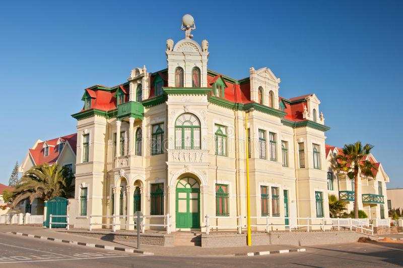 German style Hohenzollern House in Swakopmund, Namibia, Africa.  royalty free stock image