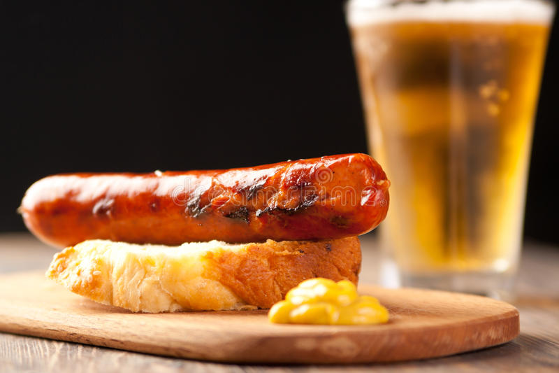 German style sausage royalty free stock photo