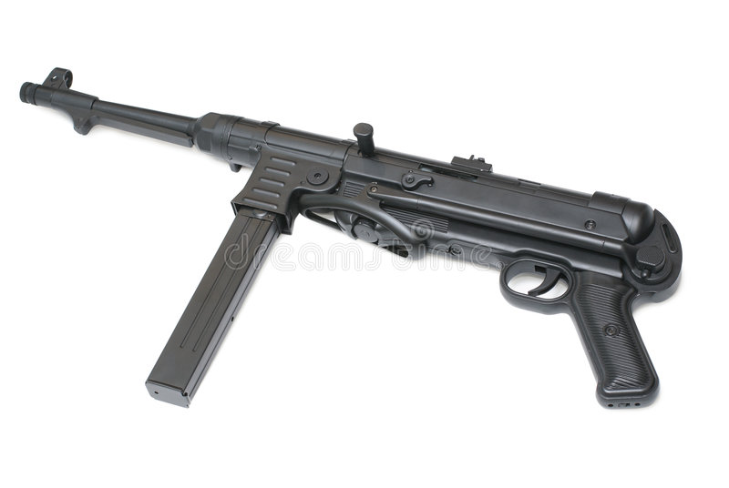 German submachine gun. MP40