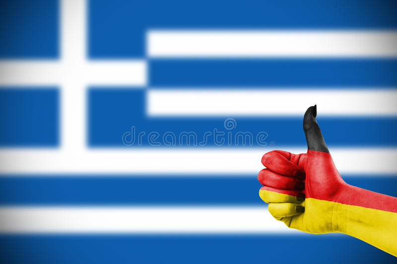 German support for Greece royalty free stock photography