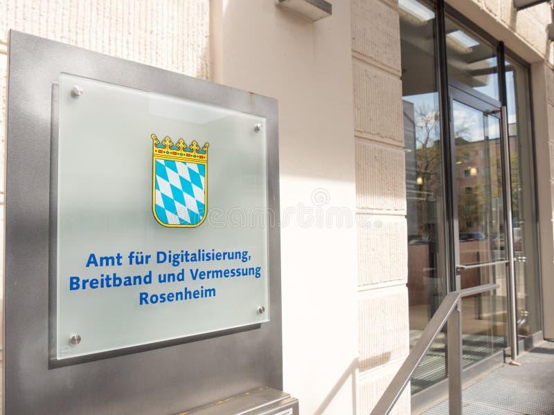 German surveyor's office royalty free stock images