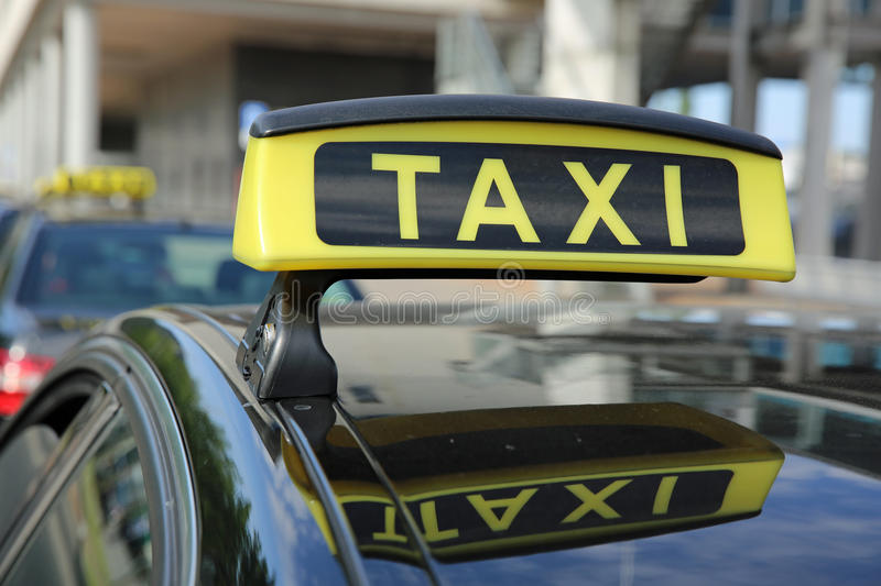 German Taxi stock image