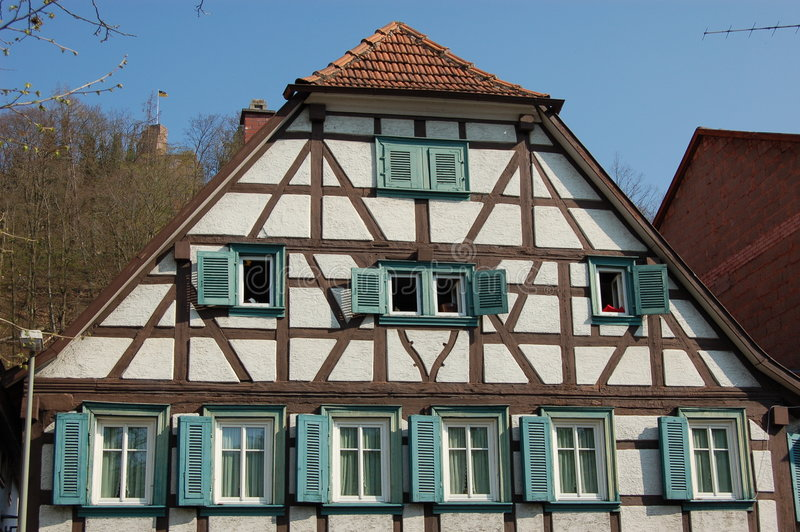 German Timber house stock image