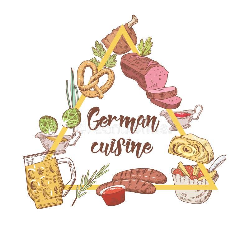 menu german drink germany traditional het drawn template cuisine doodle hand duitse della restaurant malplaatje alimento voedsel tradizionale cucina dell