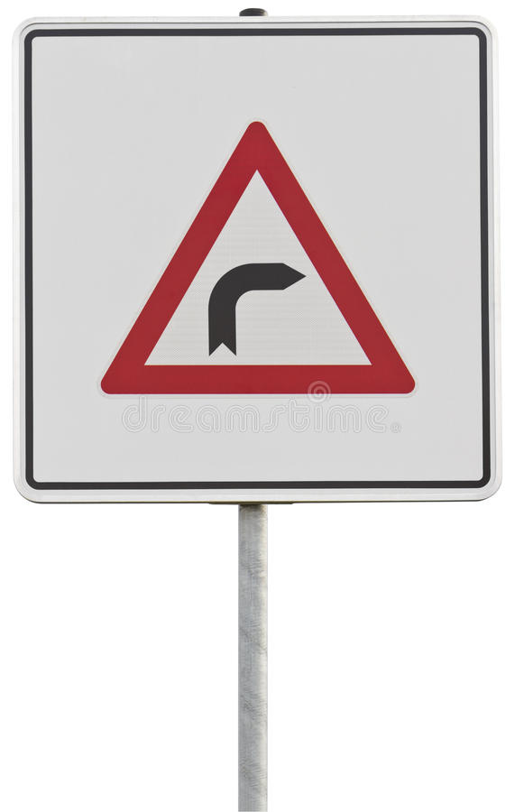 German traffic sign: right turn