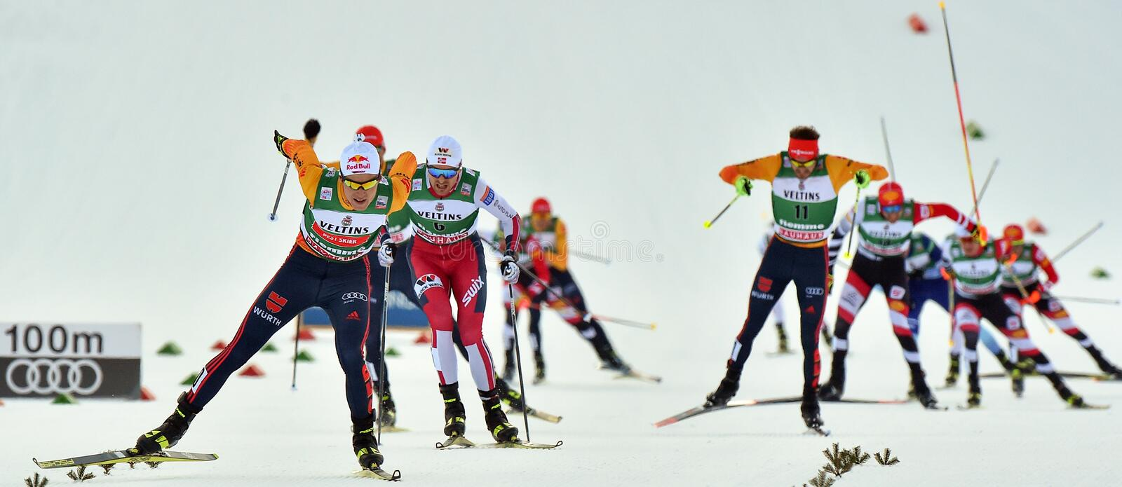 Nordic Ski FIS World Cup 2020 - Nordic Combined stock images