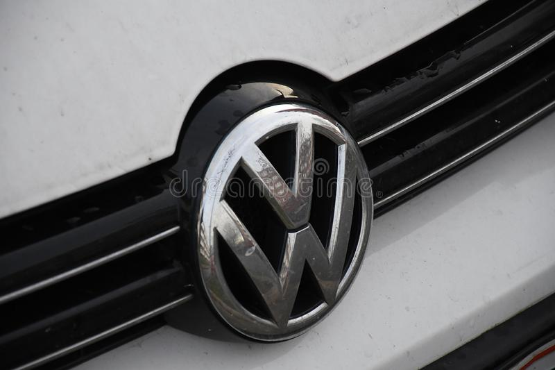 GERMAN VW AUTO IN COPENHAGEN DENMARK. Copenhagen /Denmark/ 01.December 2019/  German volkswagen auto in danish capital Copenhagen ,Denmark royalty free stock images
