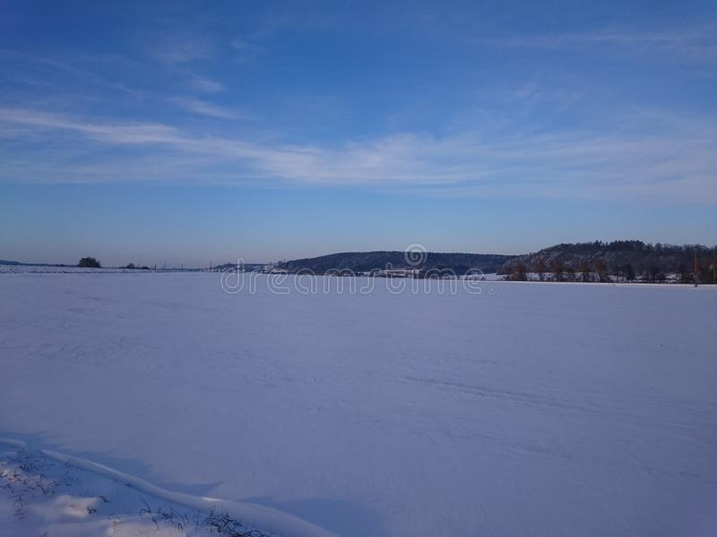 German winterscape royalty free stock photography