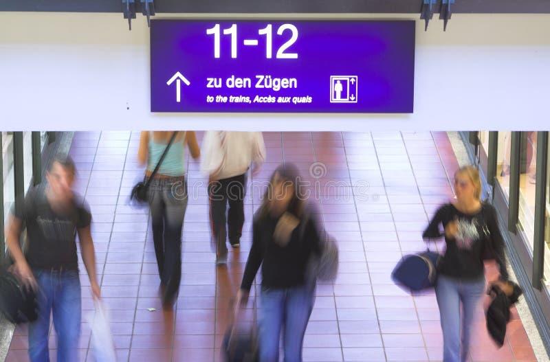 german znaku stacji pociągu zdjęcie royalty free