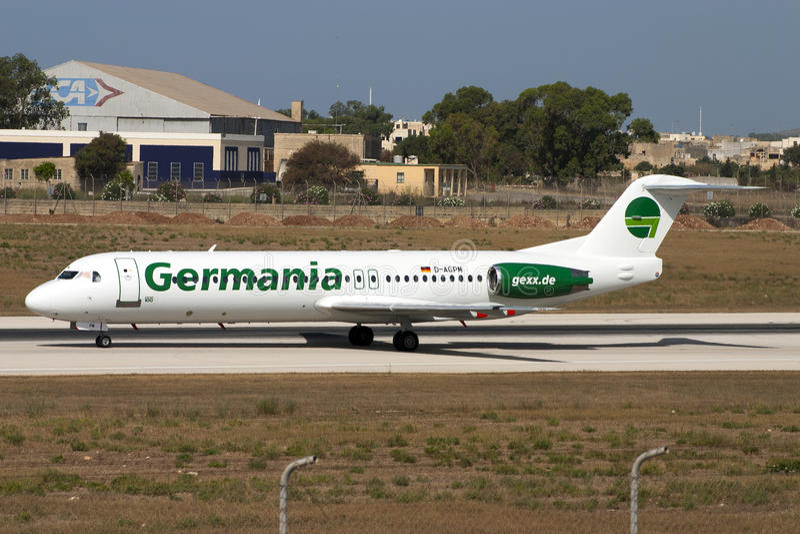 Germania Fokker 100 stock photos
