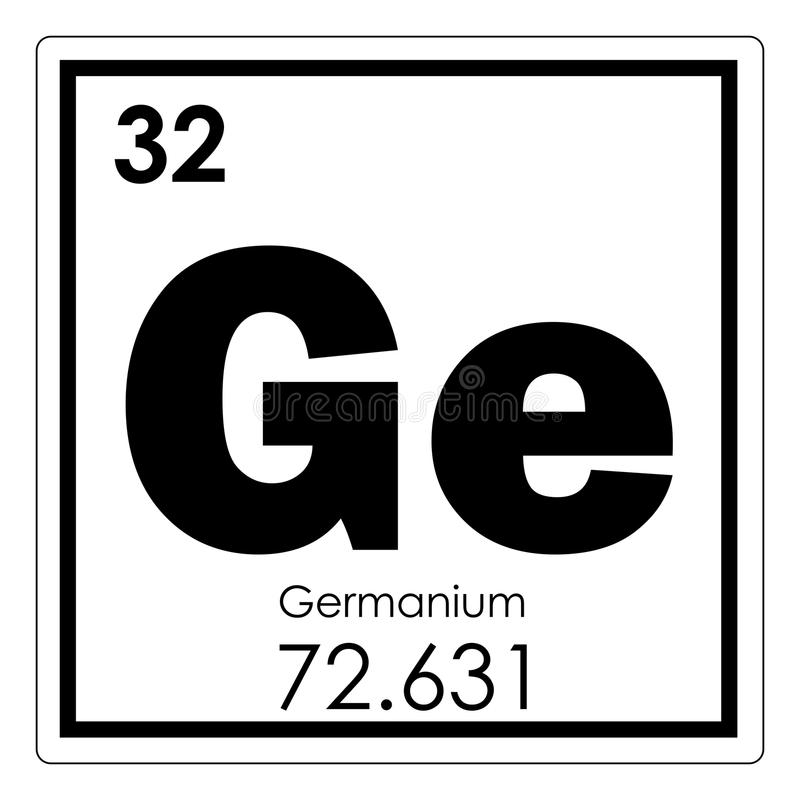 Germanium chemical element royalty free illustration