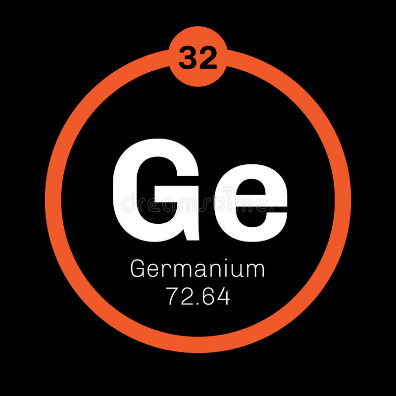 Germanium Chemical Element Stock Vector Illustration Of Groups