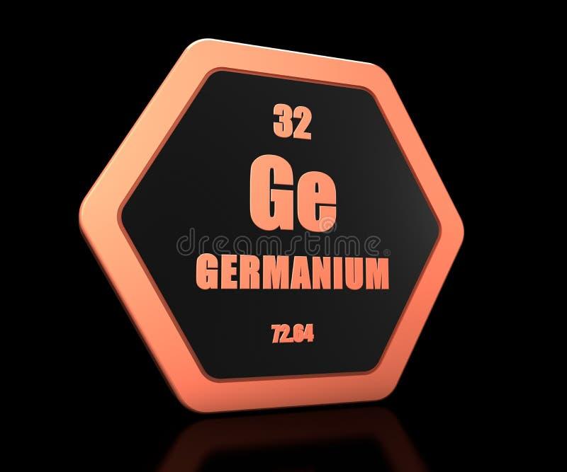 Germanium chemical element periodic table symbol 3d render vector illustration