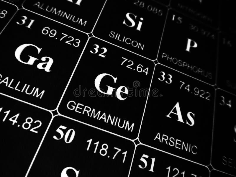 Germanium op de periodieke lijst van de elementen stock fotografie