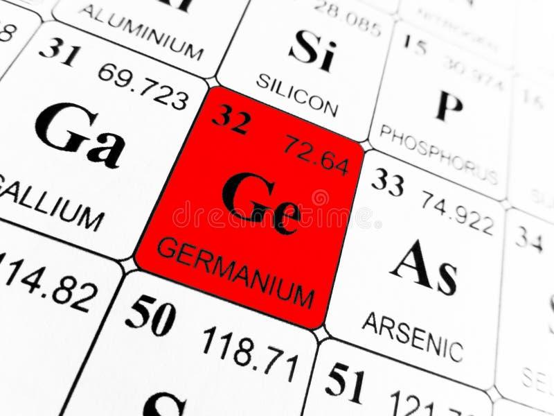 Germanium op de periodieke lijst van de elementen stock afbeelding