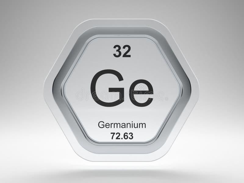 Germanium symbol hexagon frame stock illustration
