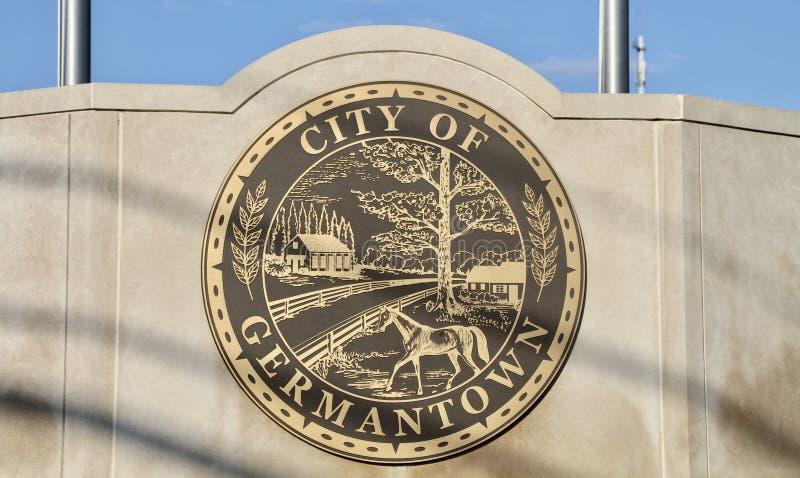 Germantown, Tennessee Seal imagenes de archivo