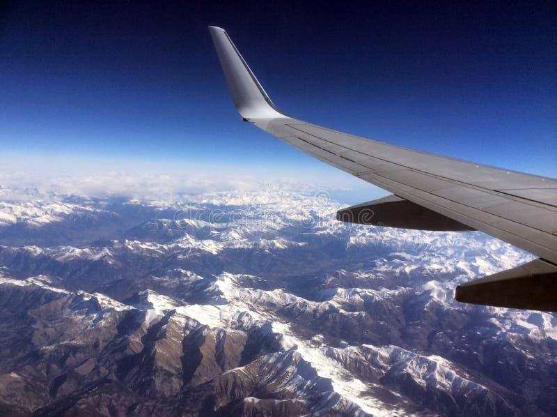 Germanwings Aerobus nad Francuskimi Alps zdjęcie stock
