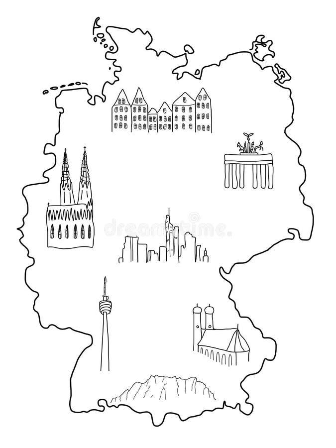 germany royalty ilustracja