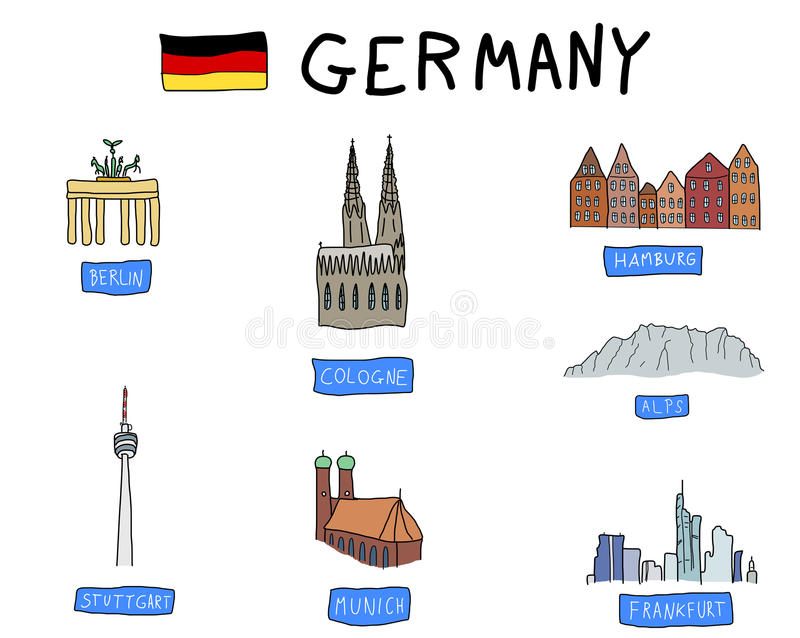 Download Germany stock vector. Illustration of munich, landmarks - 19430473