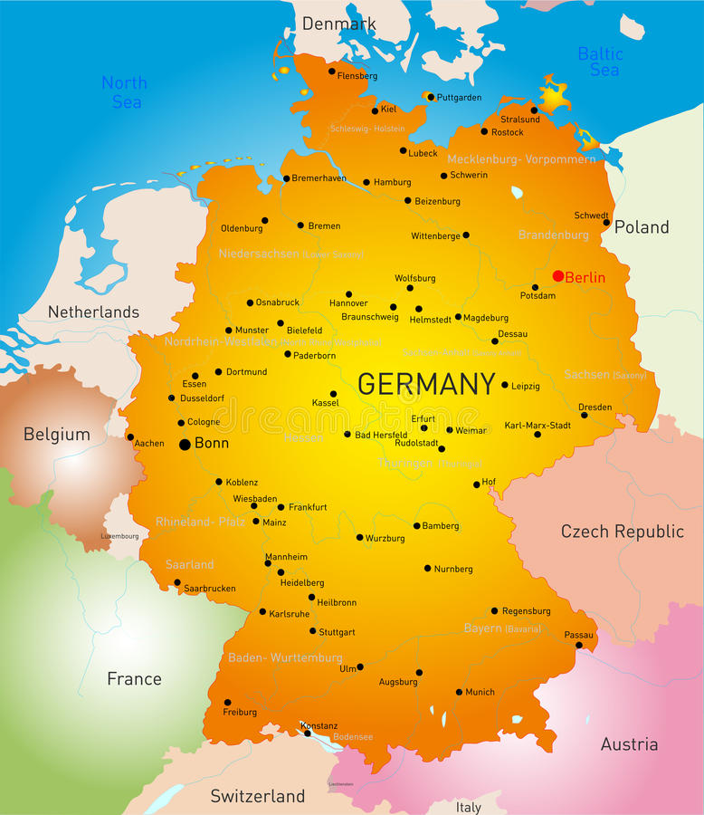 germany royaltyfri illustrationer
