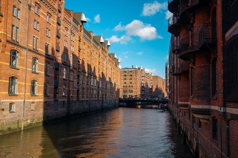 Germany. A Barn City With Brick Houses In Hamburg ...